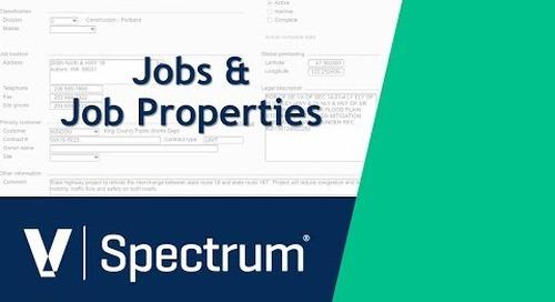 Spectrum Jobs and Job Properties