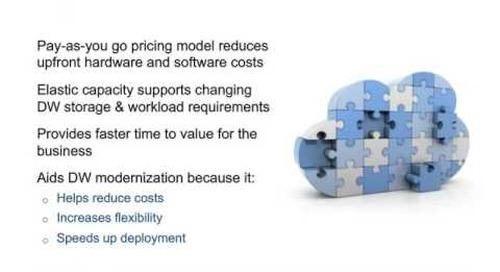 Using the Cloud as a Platform for Data Warehousing