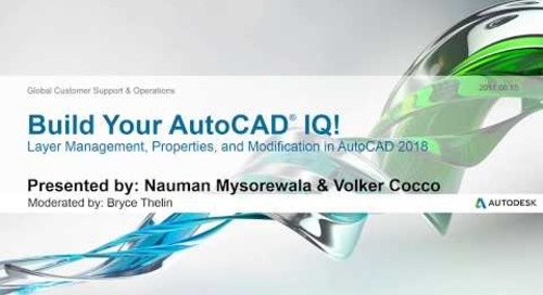 Webinar: Layer Management, Properties, & Modification in AutoCAD 2018 | AutoCAD