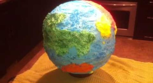 Movember Earth Cake