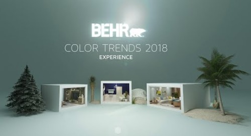BEHR COLOR TRENDS 2018 VR 360 Experience