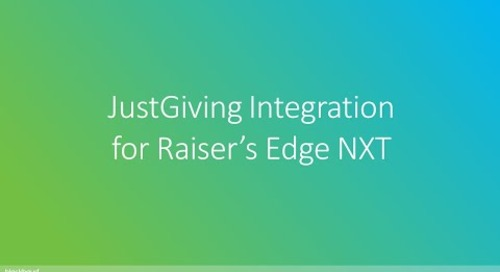 JustGiving Integration for Raiser's Edge NXT Webinar
