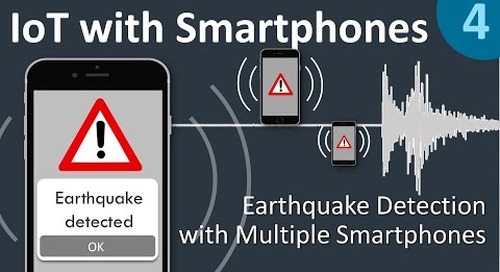 EARTHQUAKE DETECTION APP in less than 3 min. with Cumulocity - IoT with Smartphones 4/5