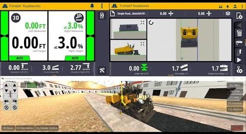 Trimble Roadworks 3D Paving Control Platform - Overview