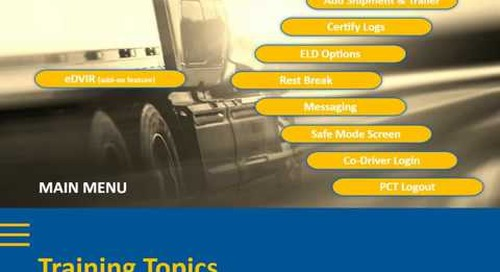 ELD Driver Training Video