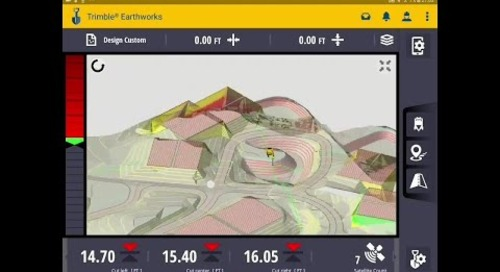 Trimble Earthworks for Excavators Demo