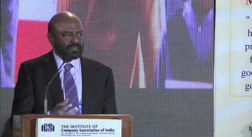 Shiv Nadar receiving the ICSI Award 2014