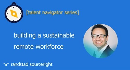 building a sustainable remote workforce | talent navigator series
