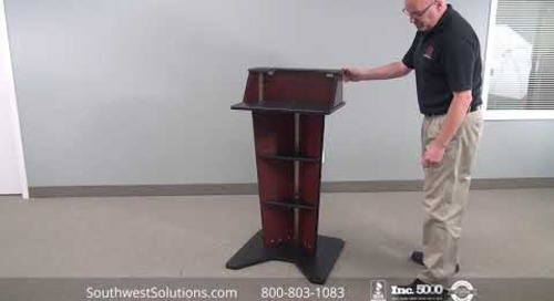 Slimline Stage Lectern Speaker Platform Multimedia Presentation Stands