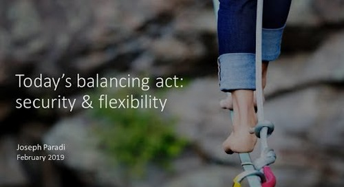 Today's Balancing Act: Security & Flexibility