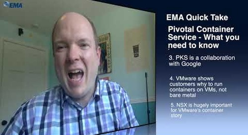 EMA Quick Take - Pivotal Container Service (PKS)