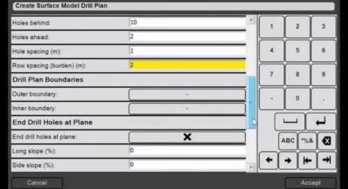 22. Trimble DPS900 V1.2 -Drill Plan Manager: How to Create Surface Model Drill Plans