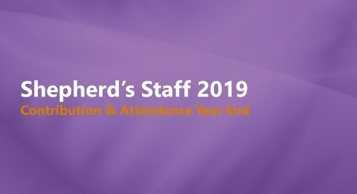 Shepherd's Staff - Contributions and Attendance Year-End Process