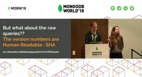 Time for a Change Stream - Using MongoDB Change Streams to Version Your Database