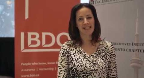BDO Canada LLP X Tax Executives Institute Professional Day 2019