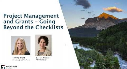 Project Management & Grants   Going Beyond the Checklists