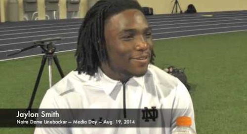 Notre Dame LB Jaylon Smith - 2014 Media Day