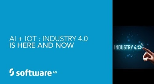 Demo: AI + IoT  Industry 4 0 is Here and Now