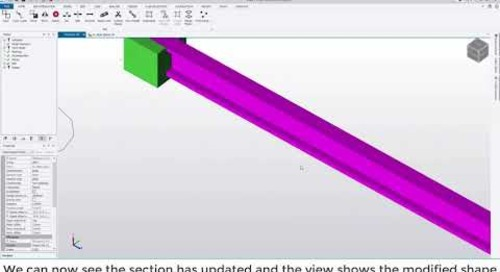 Tekla Structural Designer 2020 - Creating compound sections