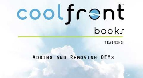 Coolfront Books - Adding and Removing OEMs