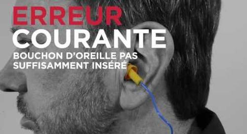 Comment utiliser des bouchons d'oreilles réutilisables?