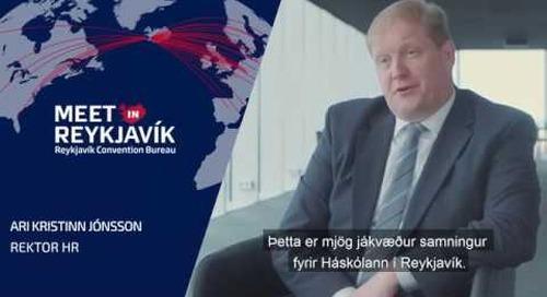 Dr. Ari Kristinn Jónsson rektor HR fjallar um samstarf við Ráðstefnuborgina Reykjavík
