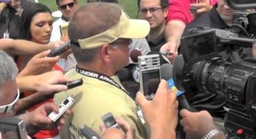 Brian Kelly Talks After First Fall Practice - 8/4/14