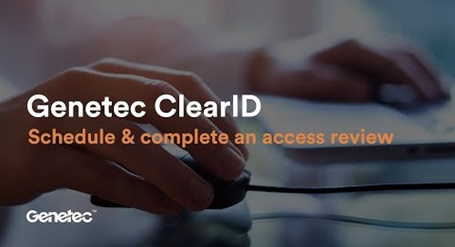 How to schedule and complete an access review in ClearID