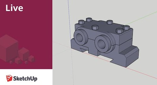 Modeling Assemblies with Screws in SketchUp Live!