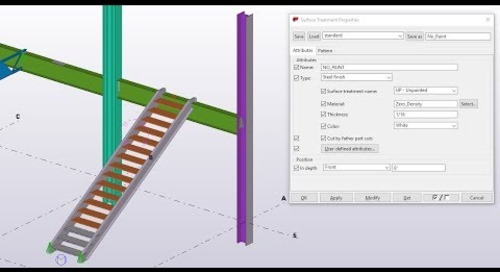 Surface Treatment in Tekla Structures