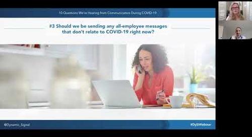 10 Covid-19 Questions Webinar - Sharing Positive News