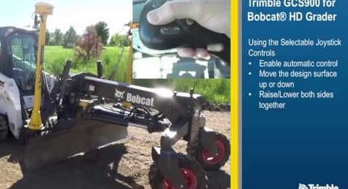 3D Grade Control Solution for Bobcat Compact Track and Skid-Steer Loaders