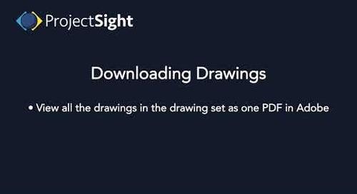 ProjectSight -  Downloading Drawings