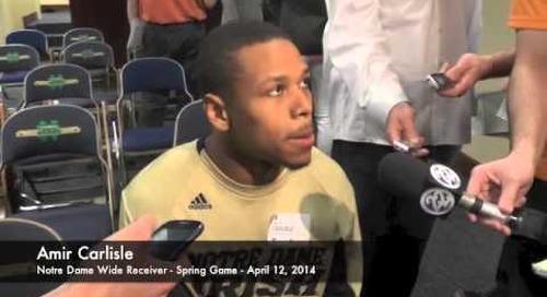 Amir Carlisle Talks After Notre Dame Spring Game
