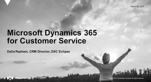 Offer effortless service across the business with Dynamics 365