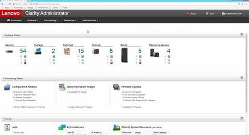 Lenovo XClarity Administrator Overview