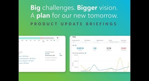Join us for Blackbaud's Product Update Briefing