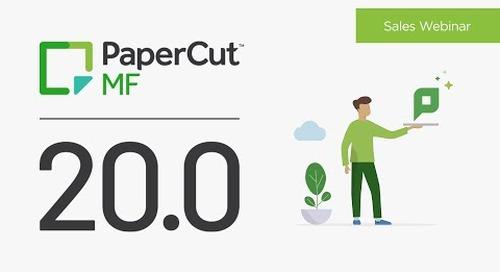 PaperCut 20.0 | Sales
