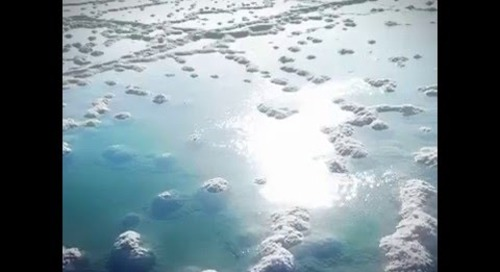 Dead Sea Salt from a Drone's eye view: Exclusive Footage