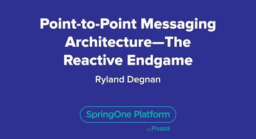 Point-to-Point Messaging Architecture - The Reactive Endgame