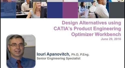 Rand 3D Webcast: Design Alternatives using CATIA's Product Engineering Optimizer Workbench