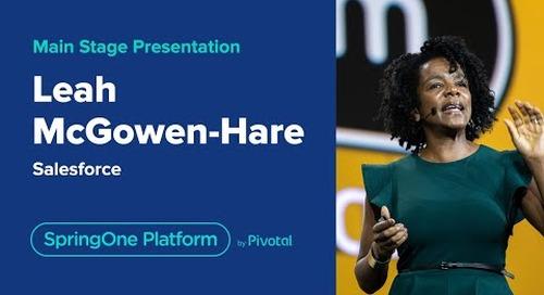 Leah McGowan-Hare at SpringOne Platform 2019