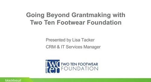 Blackbaud Webinar: Customer Story featuring Two Ten Footwear Foundation