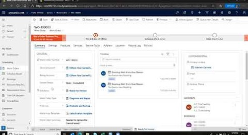 How to Convert a Work Order to an Invoice in Microsoft Dynamics 365 Field Service