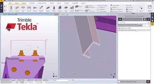 Astuce Tekla Structures : Créer une vue de surface