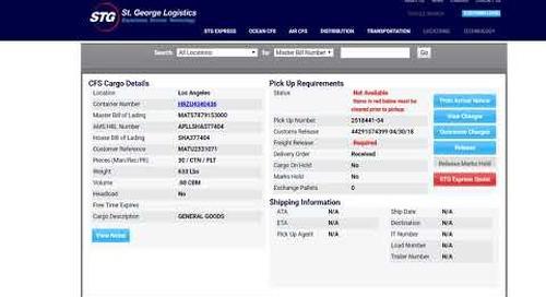 Tracking your STG Logistics Shipment