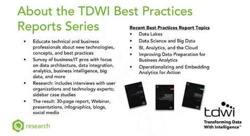 TDWI: Accelerating The Path To Value With Business Intelligence And Analytics
