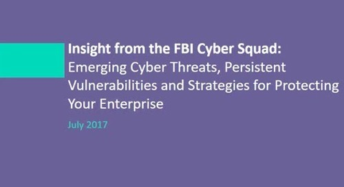 FBI Cyber Squad Guest Speaking On Emerging Cyber Threats