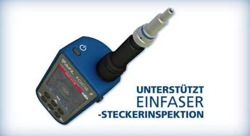 AFL stellt das Multifaser-Stecker-Inspektionssystem FOCIS Lightning vor.
