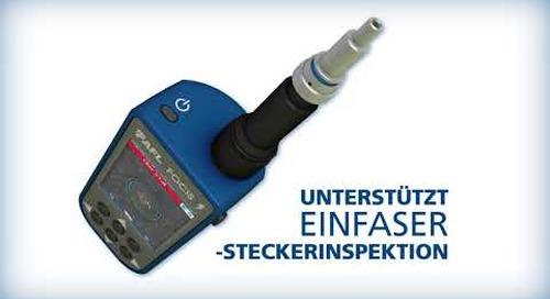 AFL stellt das Multifaser-Stecker-Inspektionssystem FOCIS Lightning® vor.